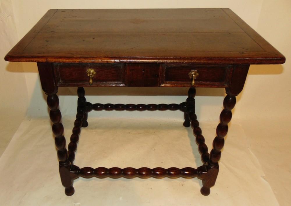 jacobean oak side table circa 1680