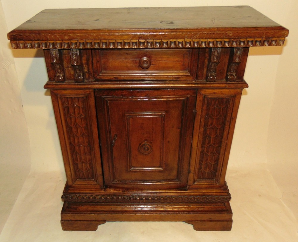 tuscan walnut side cabinet circa 1680