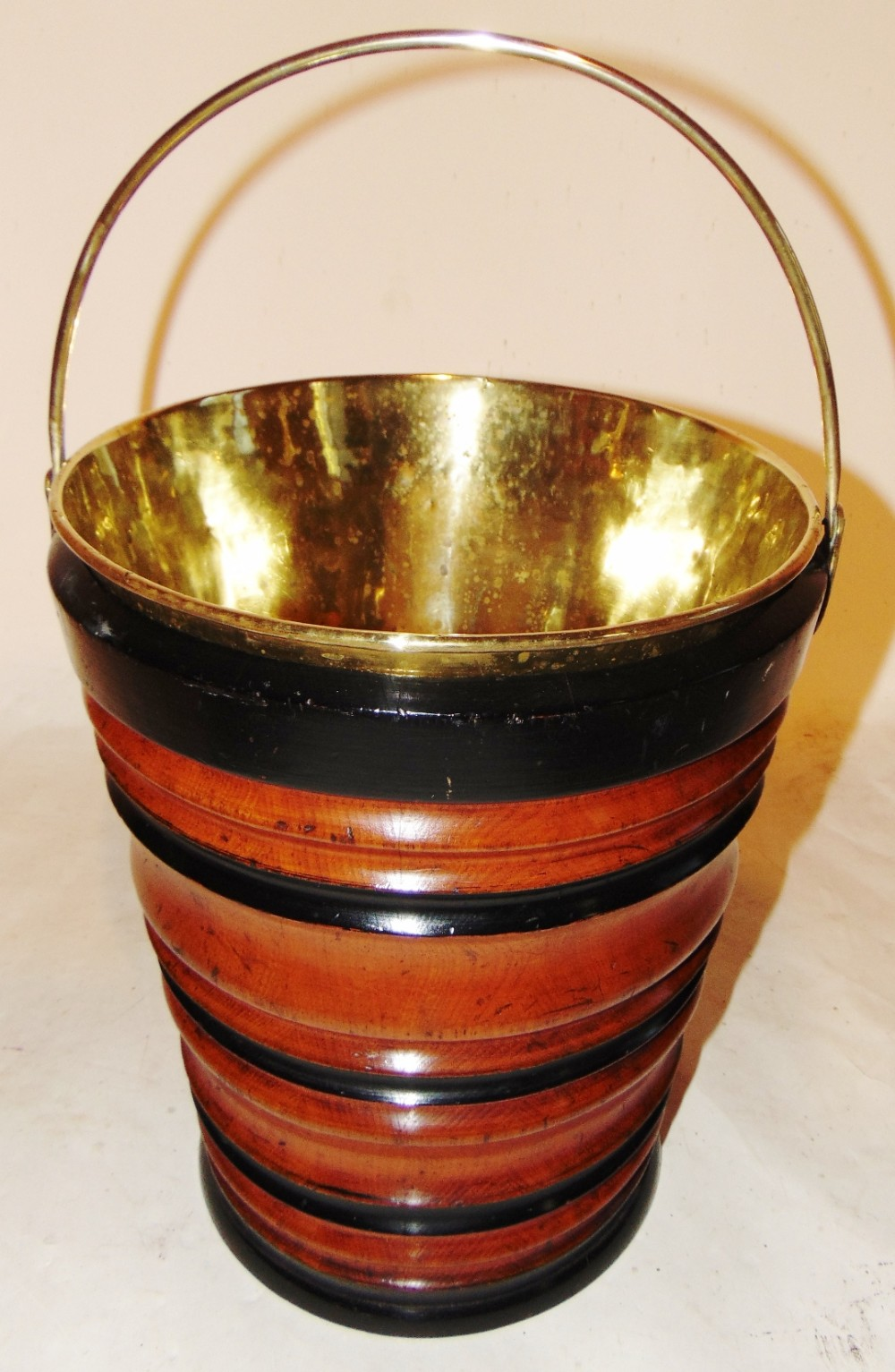 dutch fruitwood turned bucket circa 1810