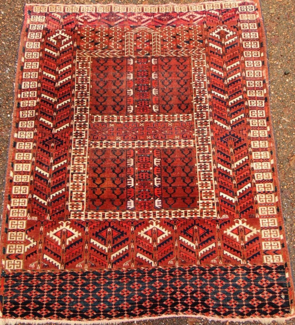 antique tekke turkoman rug circa 1900