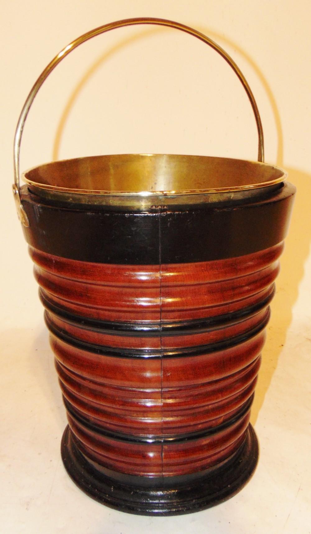 dutch mahogany coopered bucket circa 1810