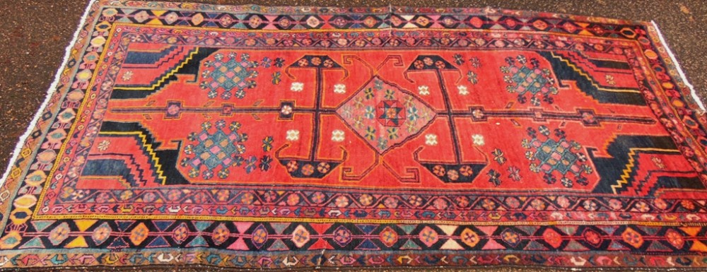 antique persian hamadan large rug circa 1920