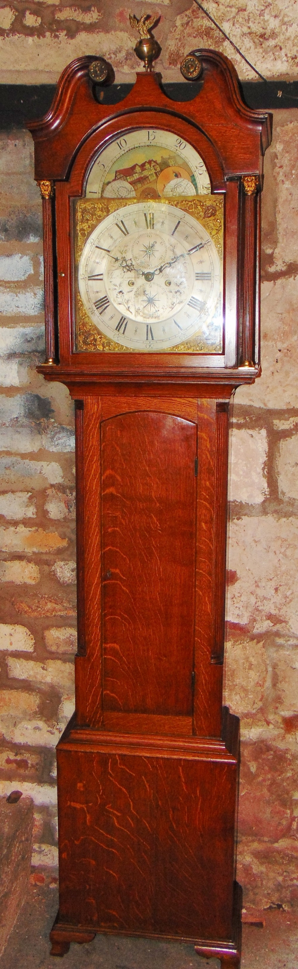 scottish georgian oak longcase clock circa 1780