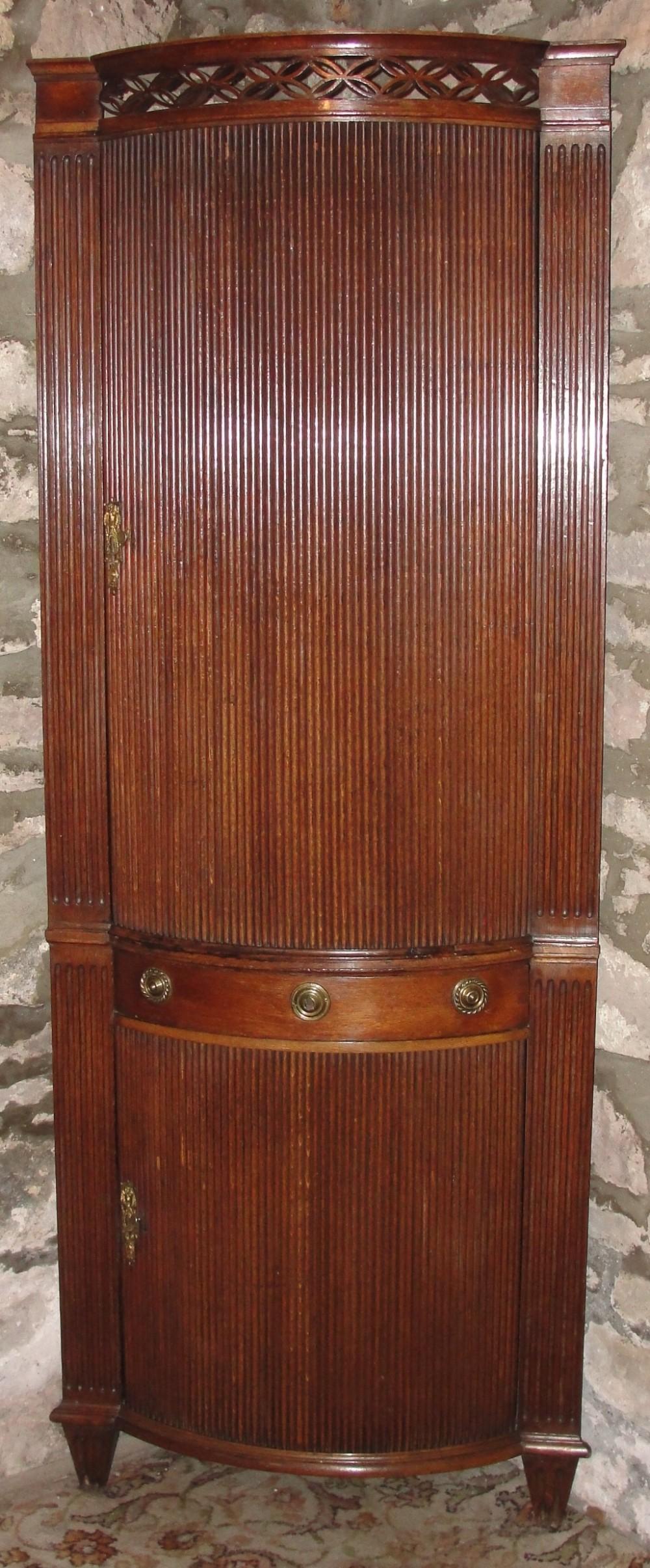 dutch oak standing corner cabinet circa 1775