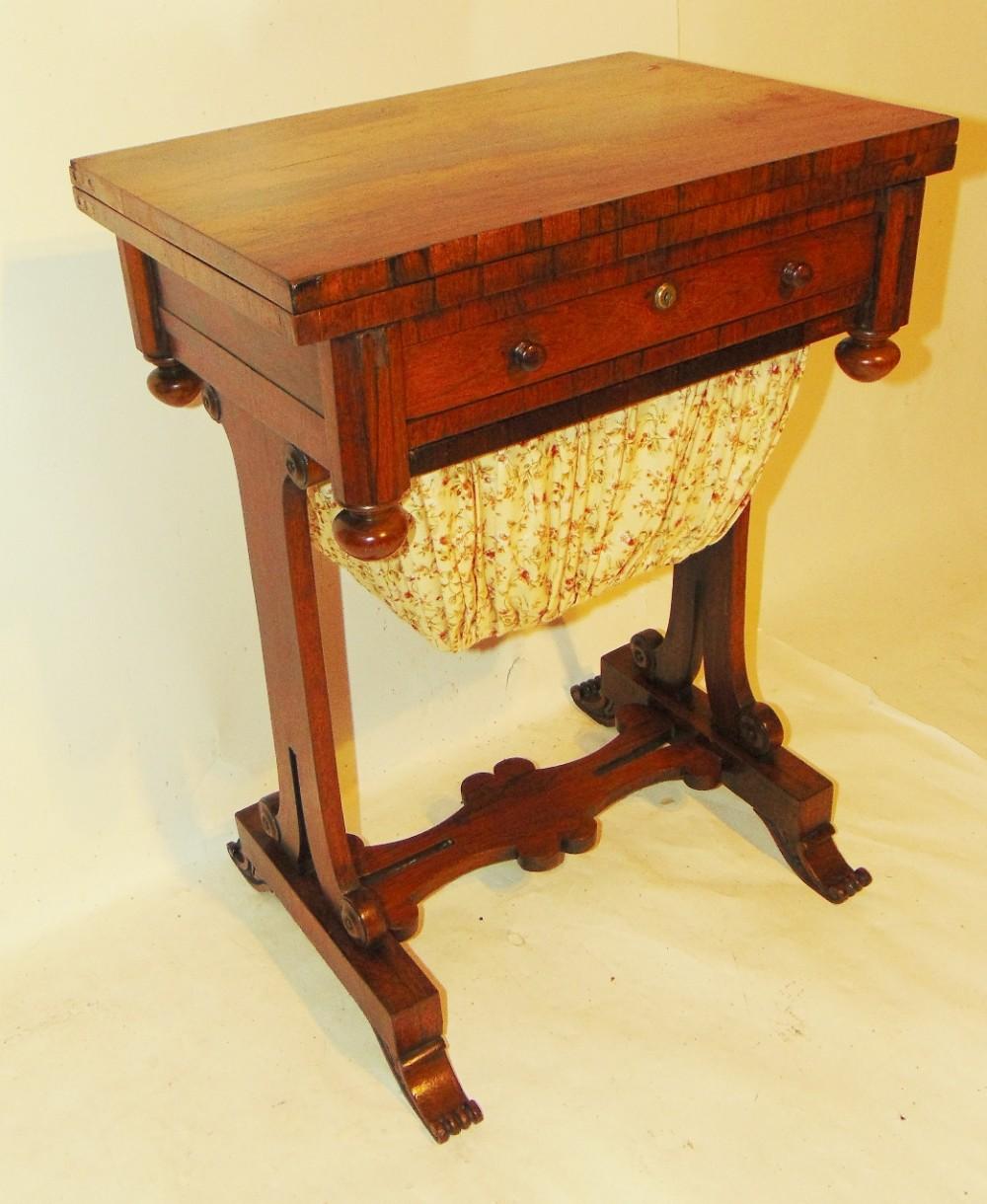 regency rosewood workgames table circa 1830