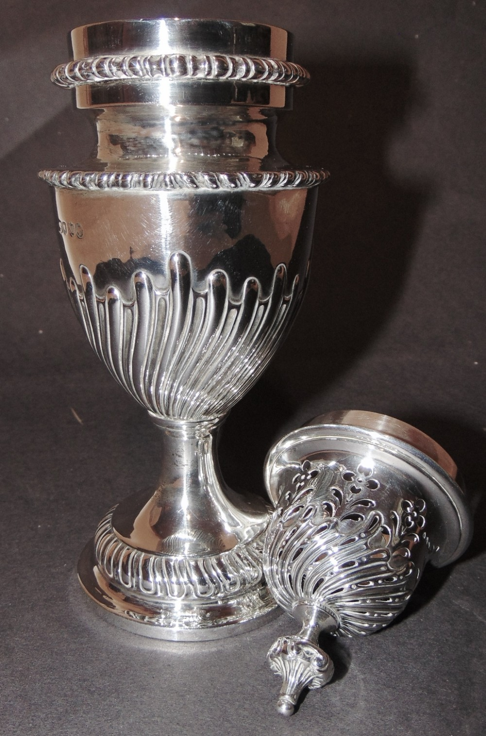 large victorian silver sugar sifter 1887