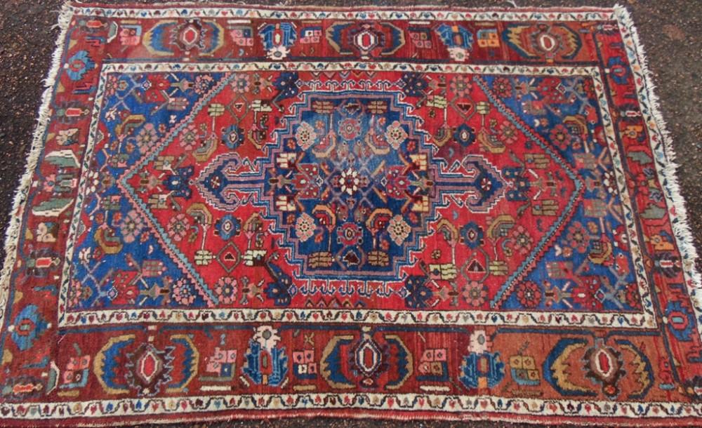 antique persian hamadan rug circa 1900