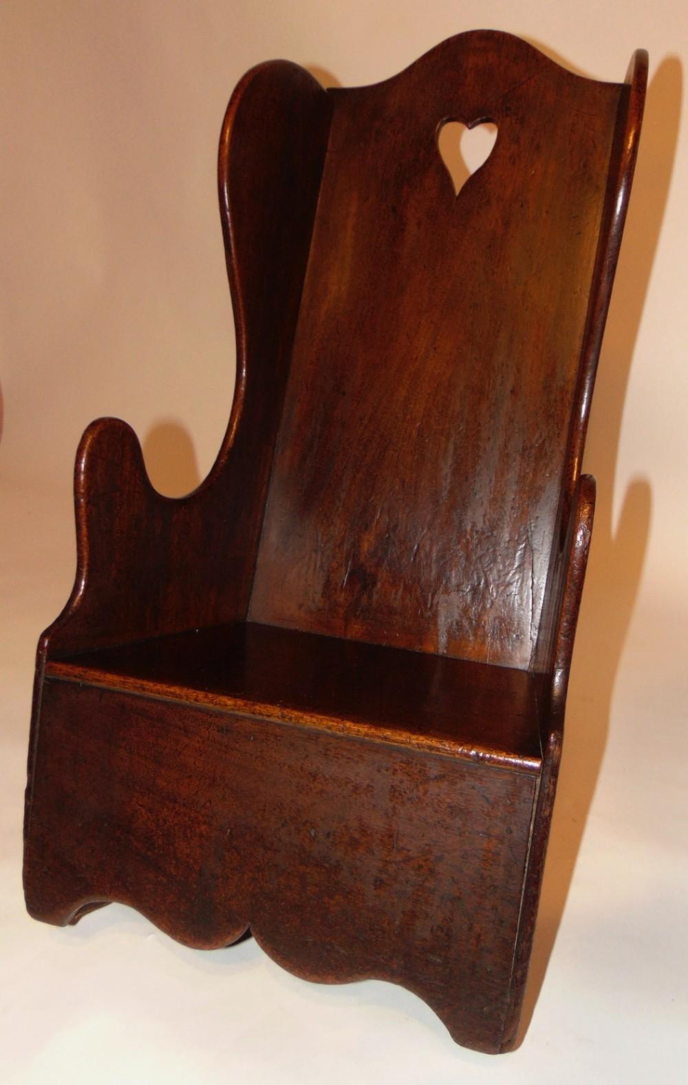 georgian mahogany child's rocking chair circa 1800