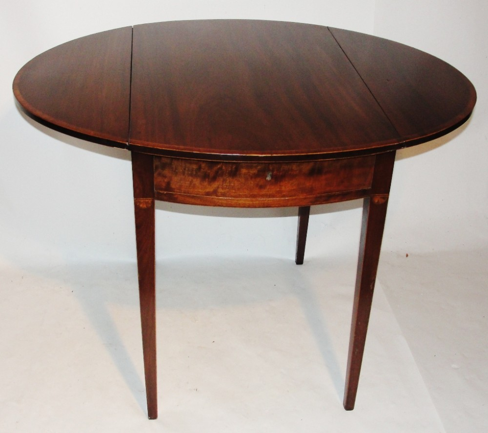 sheraton mahogany oval pembroke table circa 1790