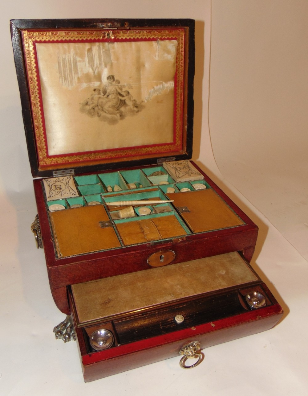 regency leather bound workwriting box circa 1820