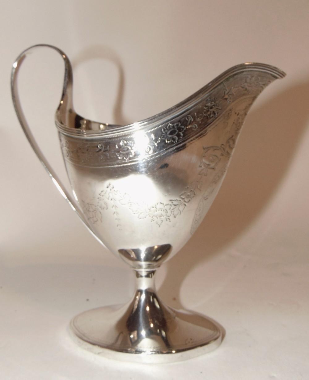 georgian edinburgh silver cream jug 1820