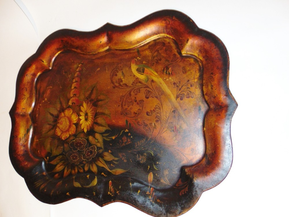 victorian painted tole tray circa 1850