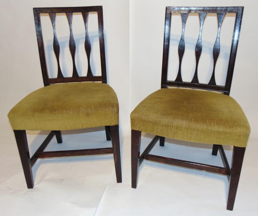 pair scottish georgian laburnum chairs circa 1800