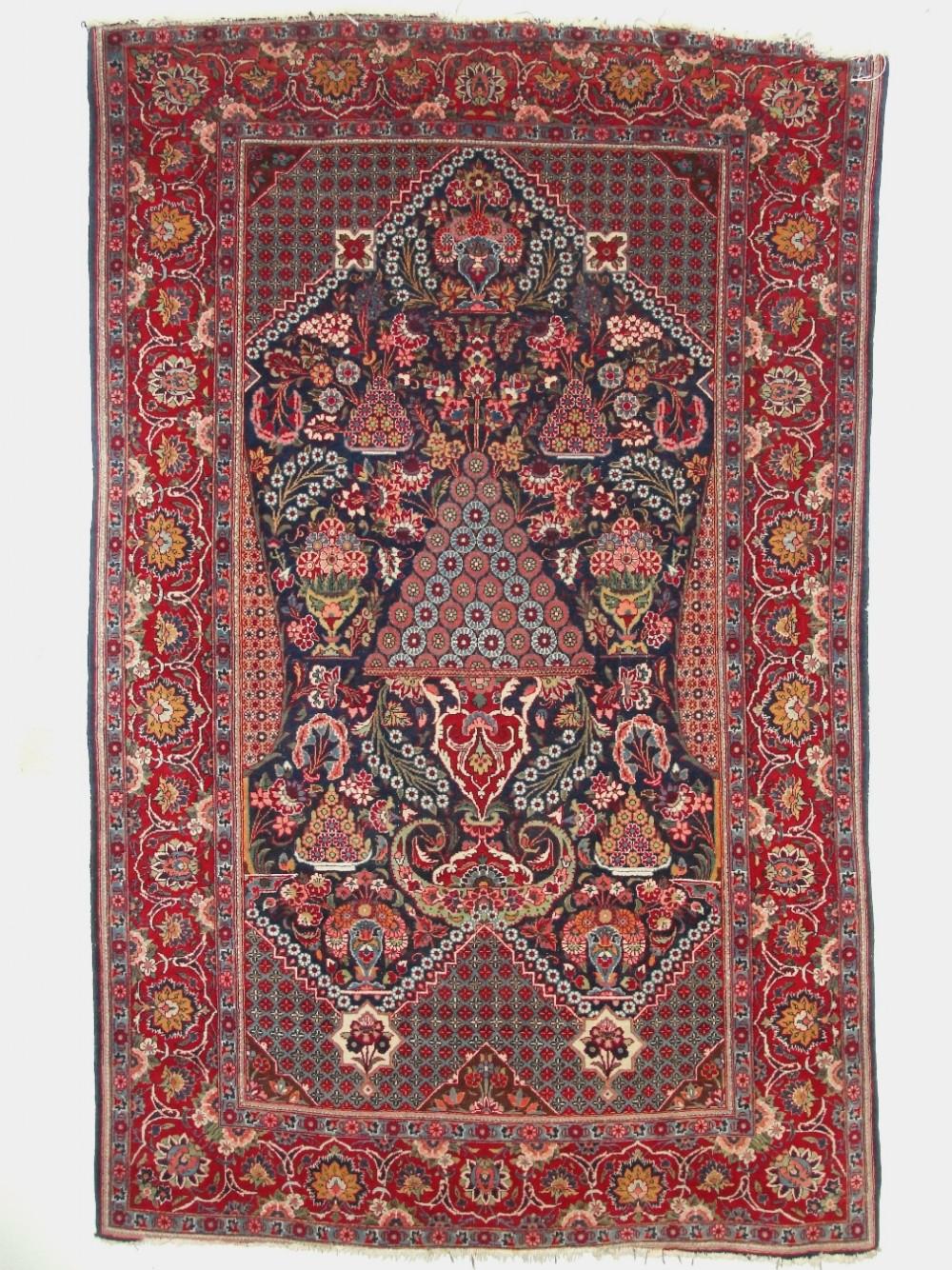antique persian kashan rug circa 1920