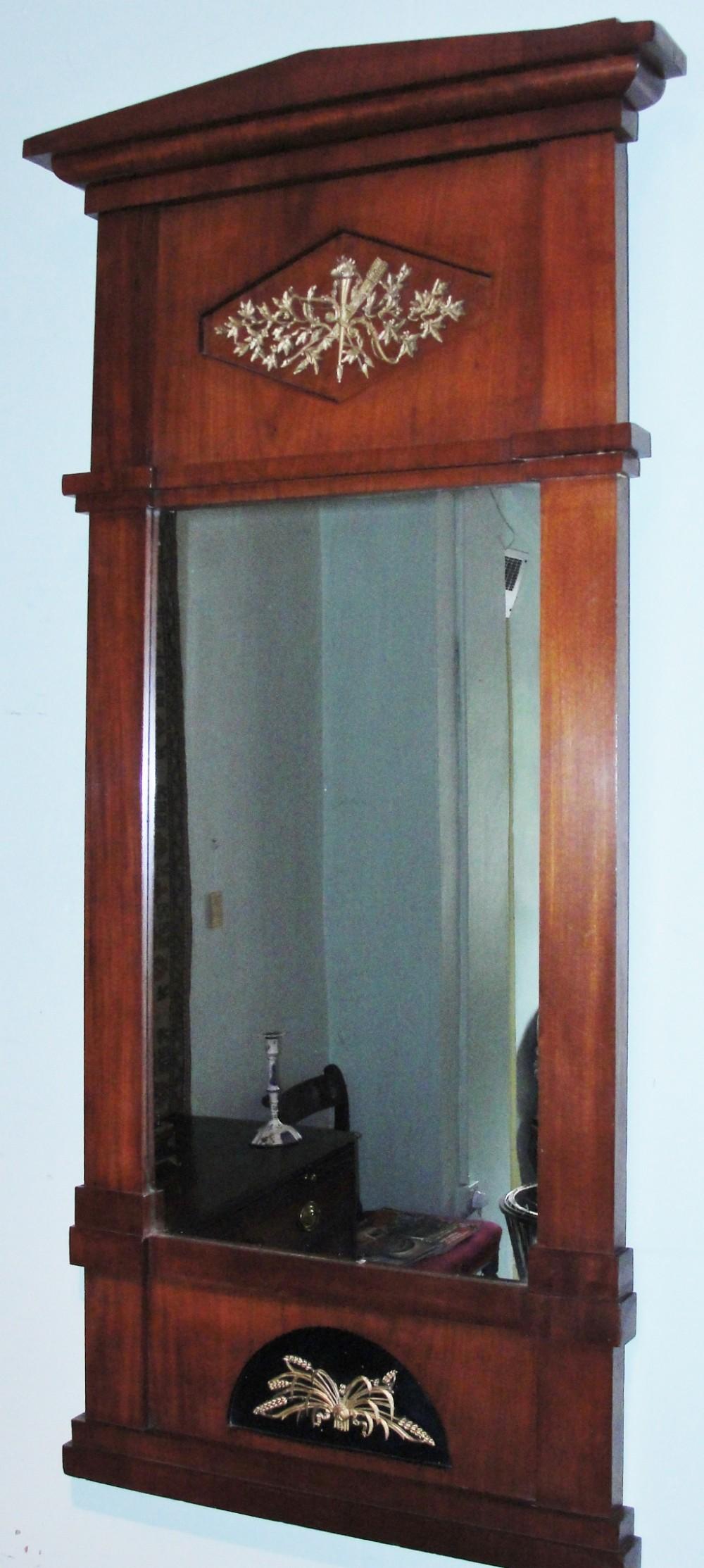 french empire mahogany pier mirror circa 1820