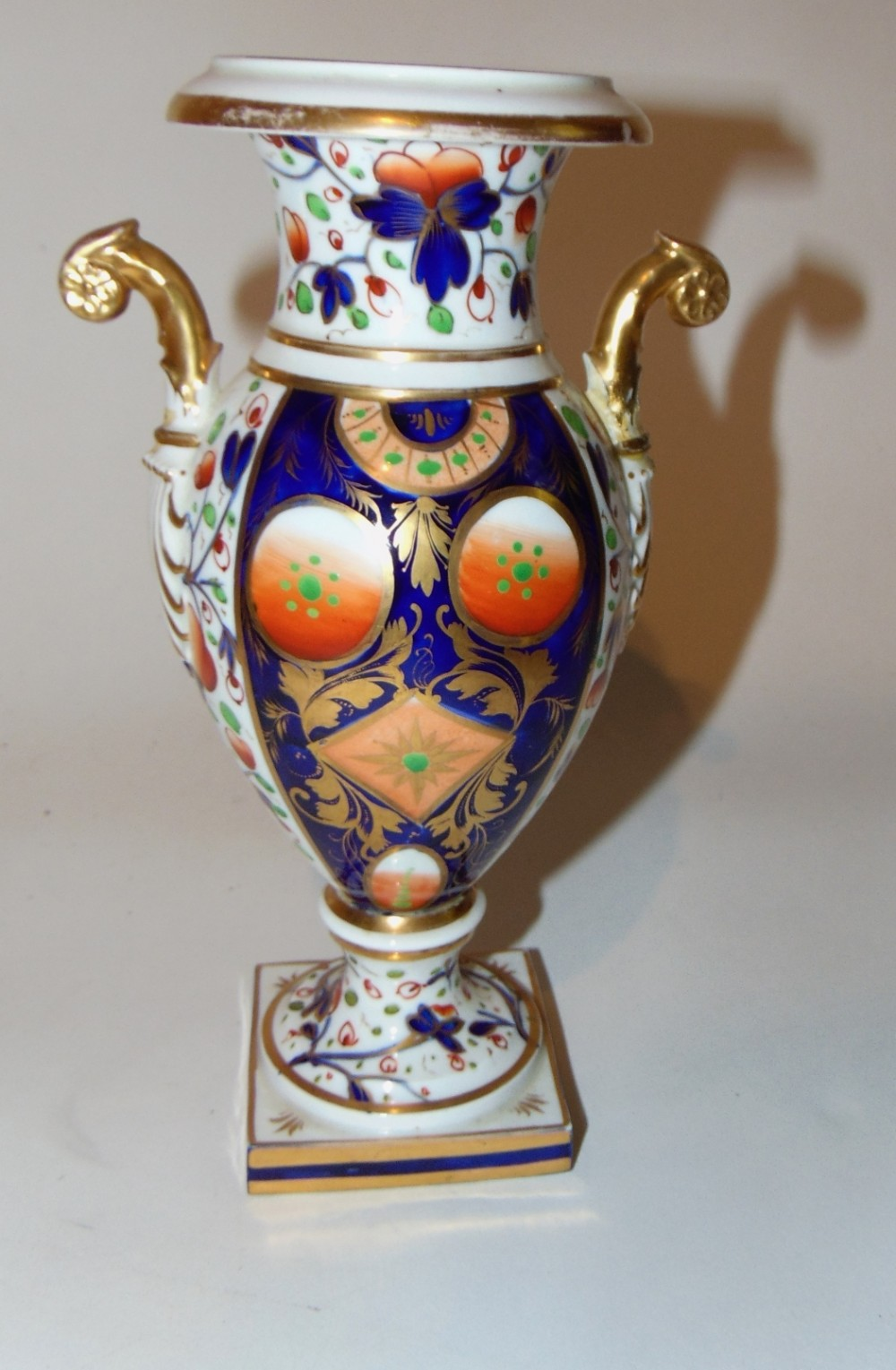 bloor derby tall vase circa 1825