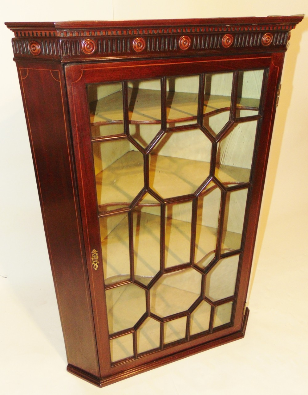 scottish george iii mahogany corner cabinet circa 1775