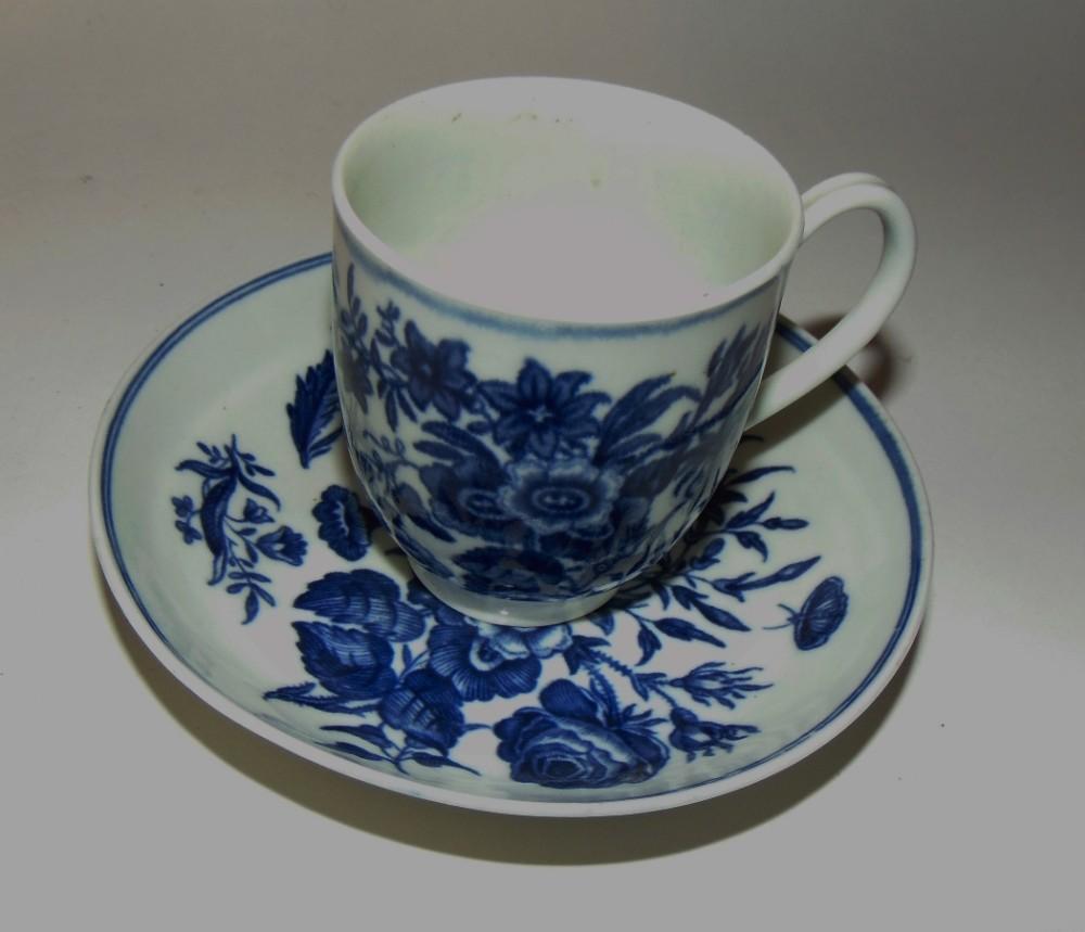 georgian worcester cup and saucer circa 1775