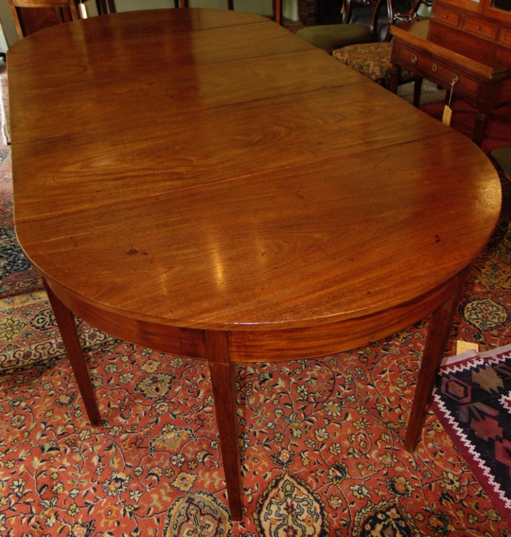 georgian mahogany dining table circa 1790