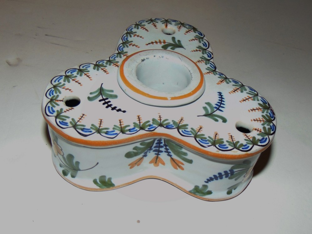 french faience inkstand circa 1820