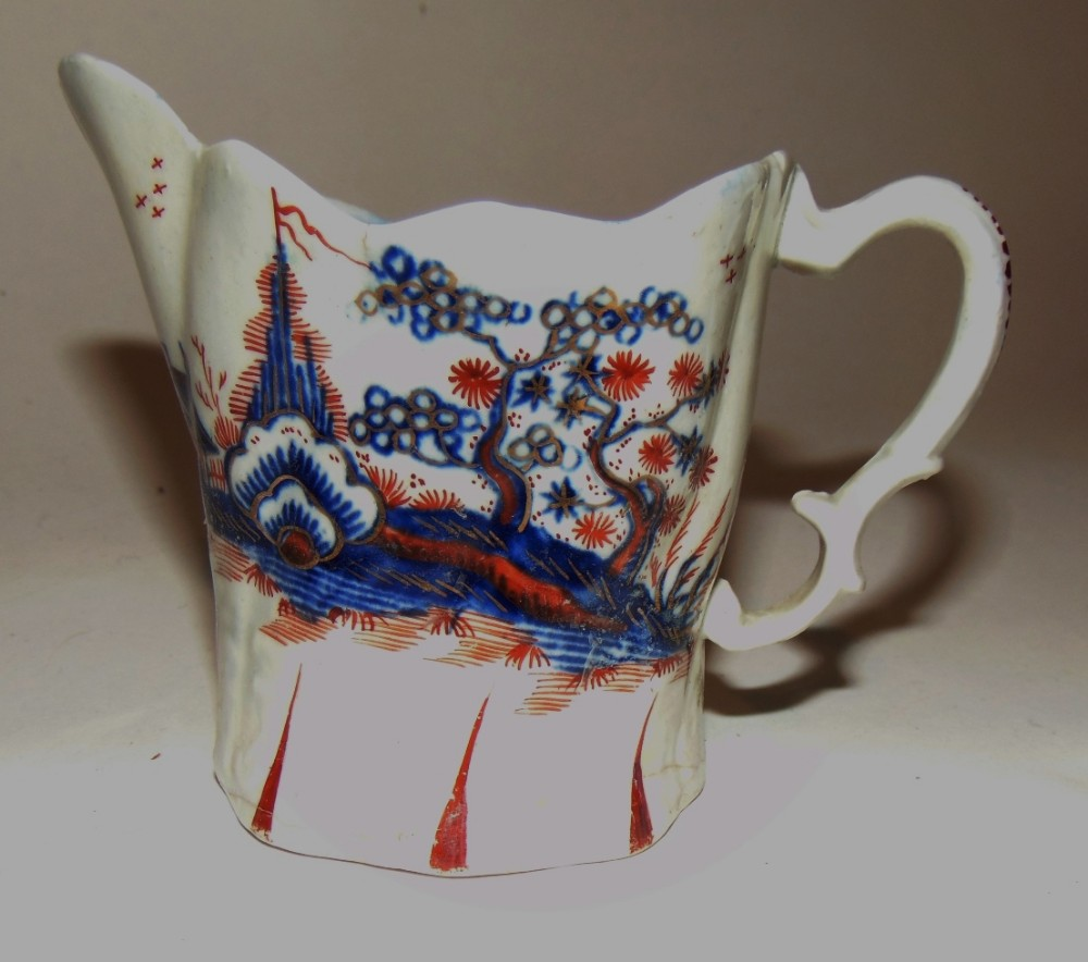 liverpool porcelain cream jug circa 1780