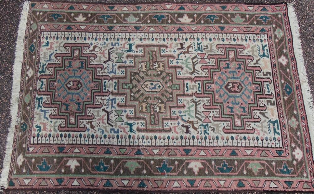 persian soumac tribal rug circa 1925