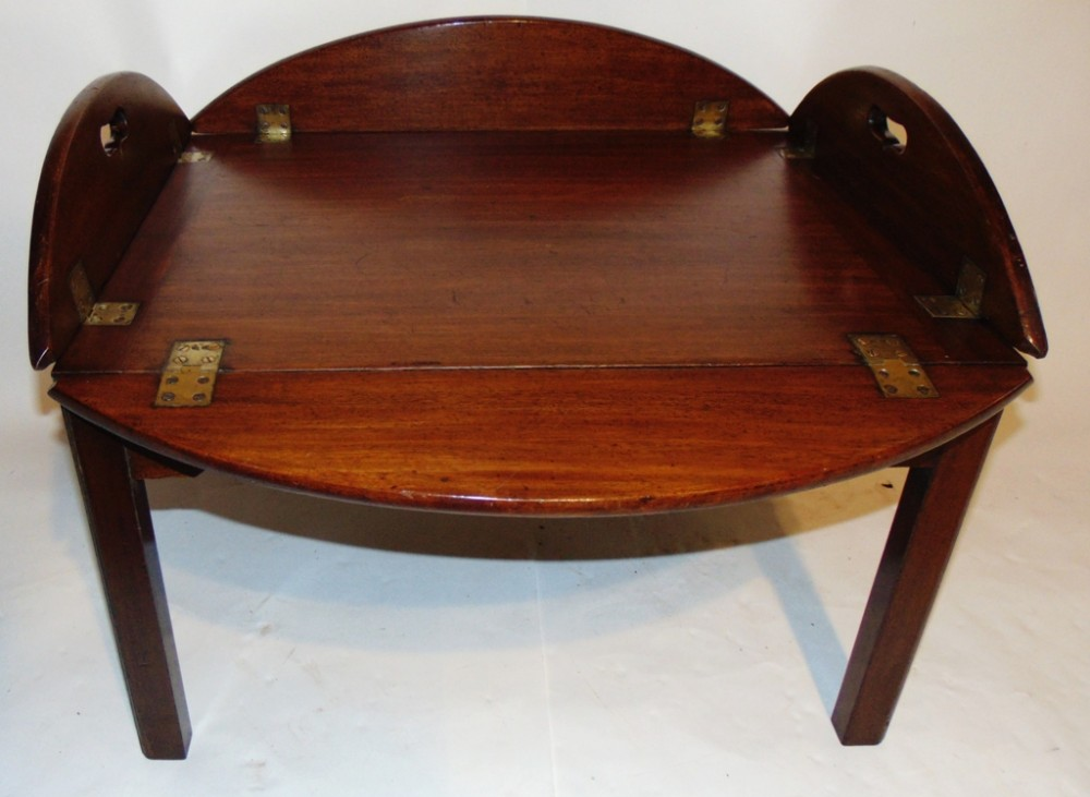 georgian mahogany butler's tray on stand circa 1800