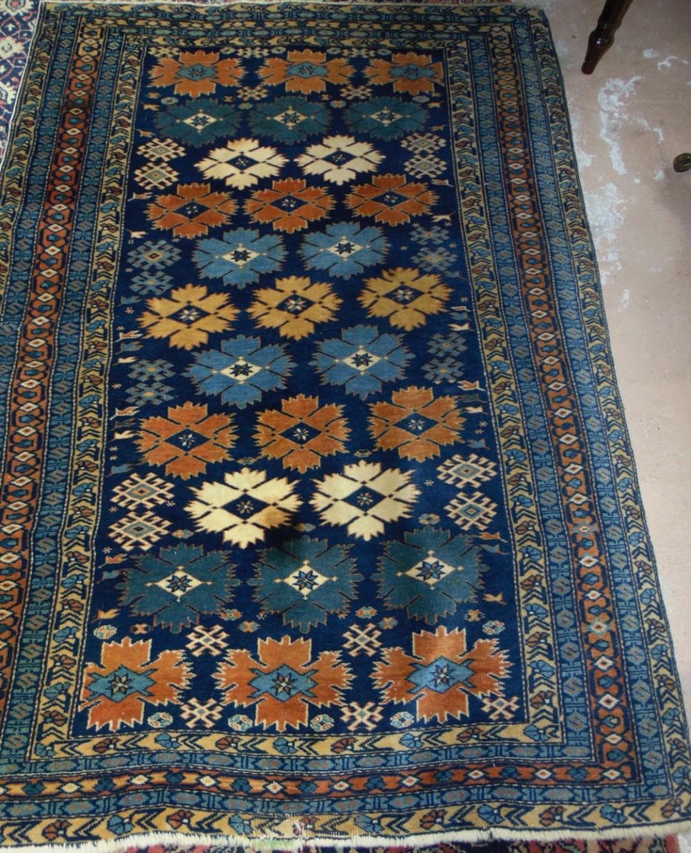 antique caucasian shirvan rug circa 1910