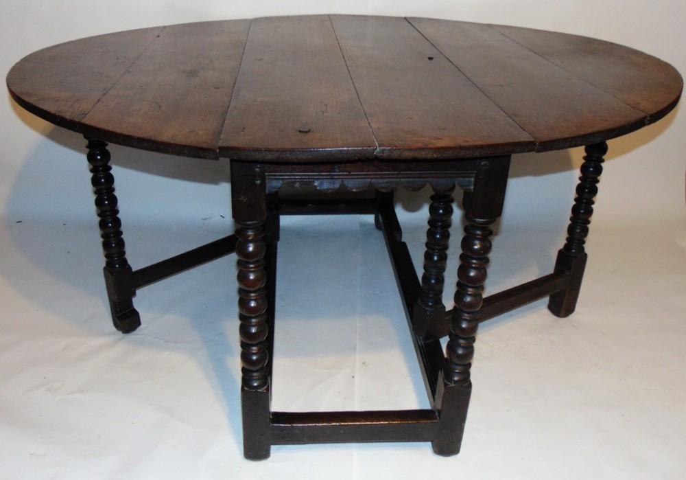 early oak gateleg dining table circa 1670