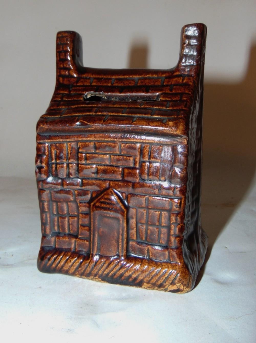 treacle glazed house money box circa 1830