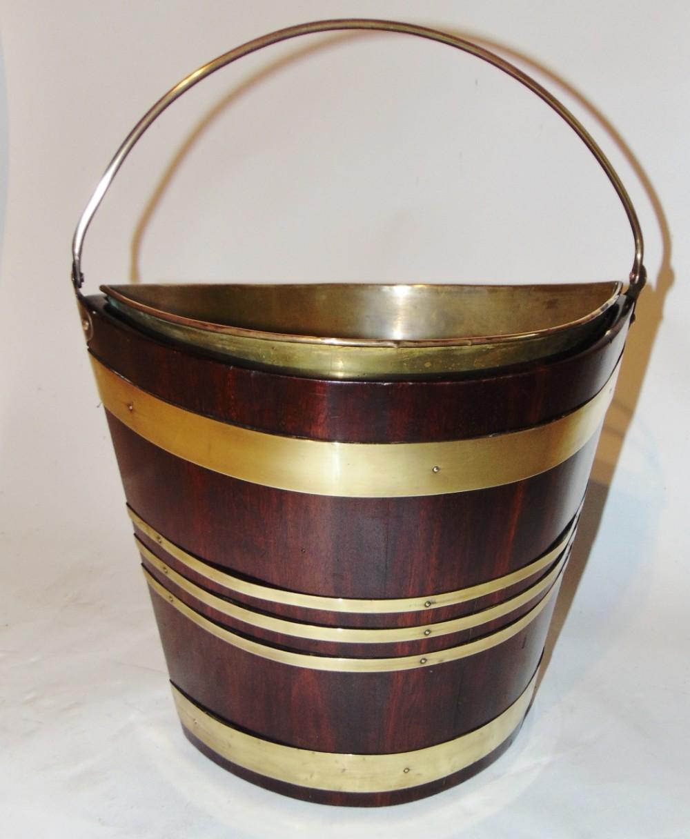 georgian mahogany brass bound bucket circa 1780