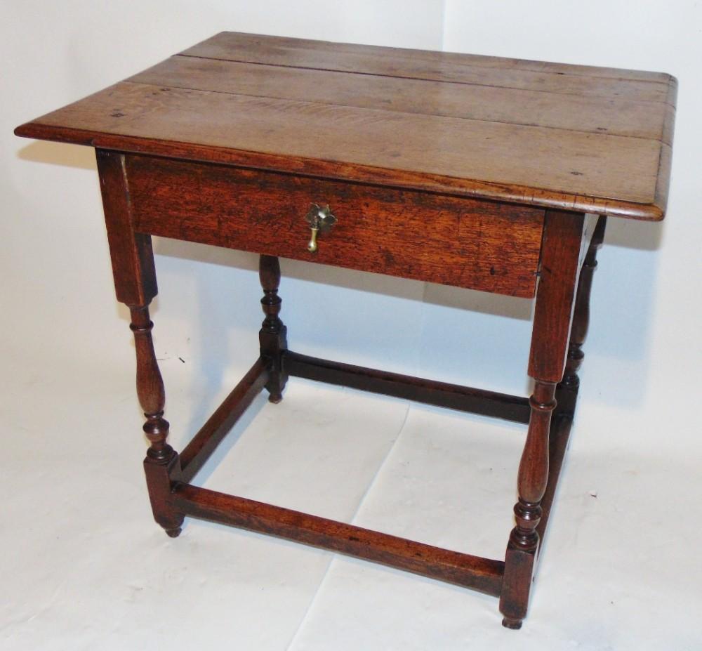 early 18th century oak side table circa 1720