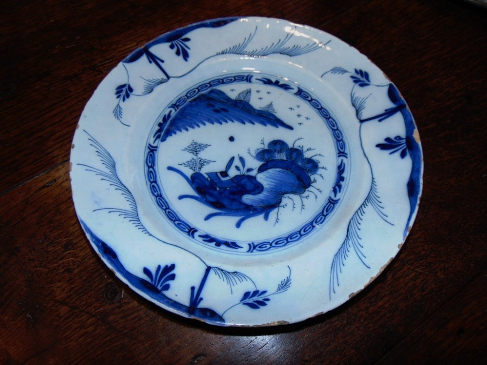 18th century bristol delft dish circa 1760