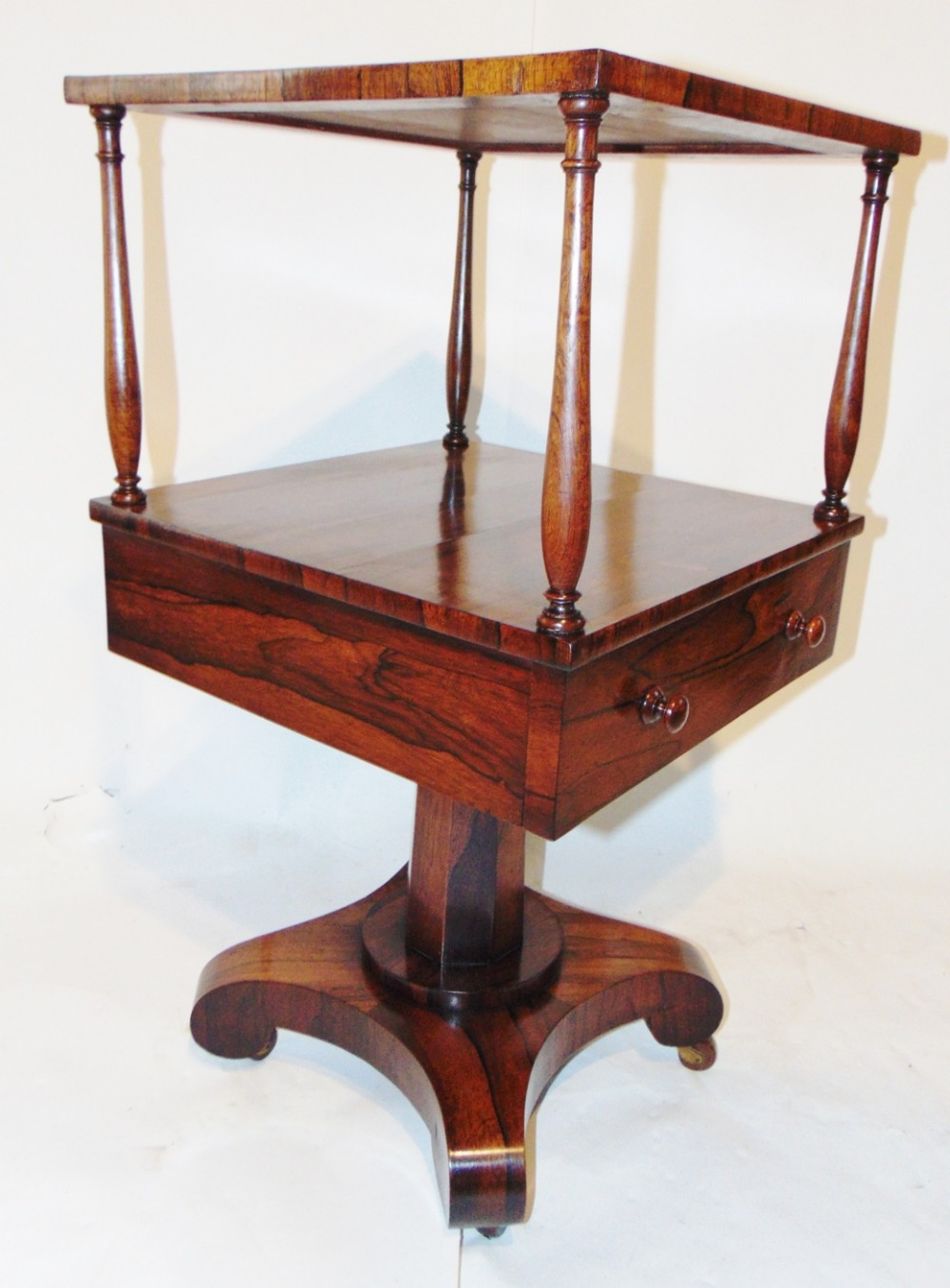 regency rosewood two tier etagere circa 1825
