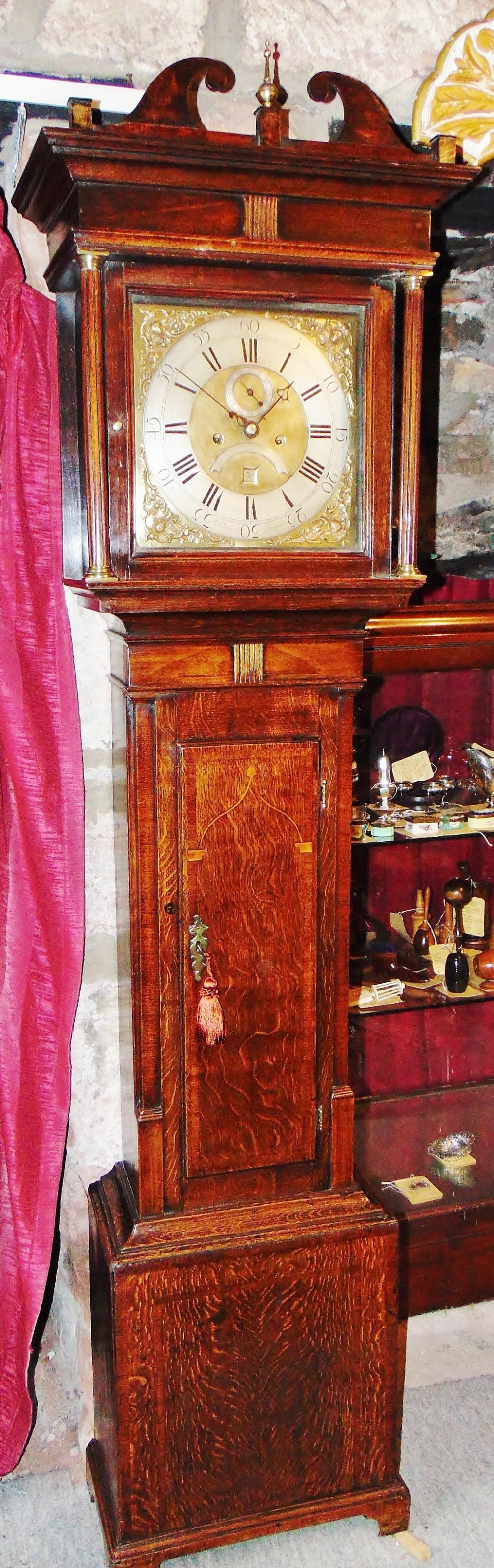 georgian oak welsh longcase clock circa 1770