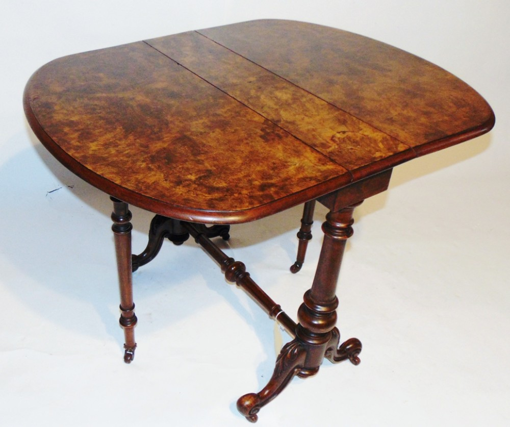 victorian walnut sutherland table circa 1850