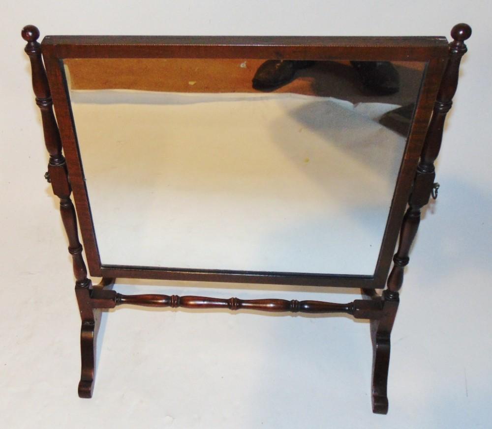 georgian mahogany dressing mirror circa 1800