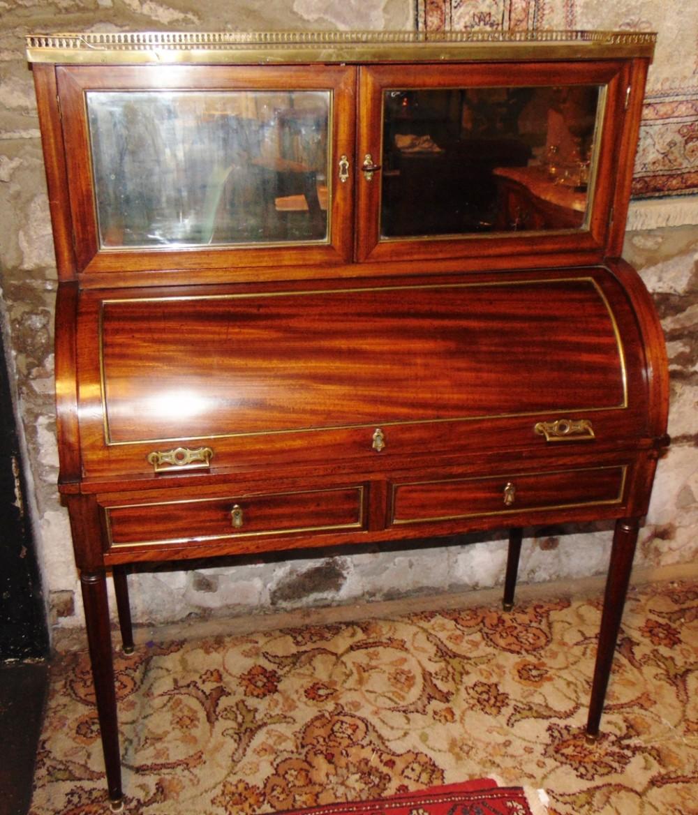 french empire mahogany desk cabinet circa 1850