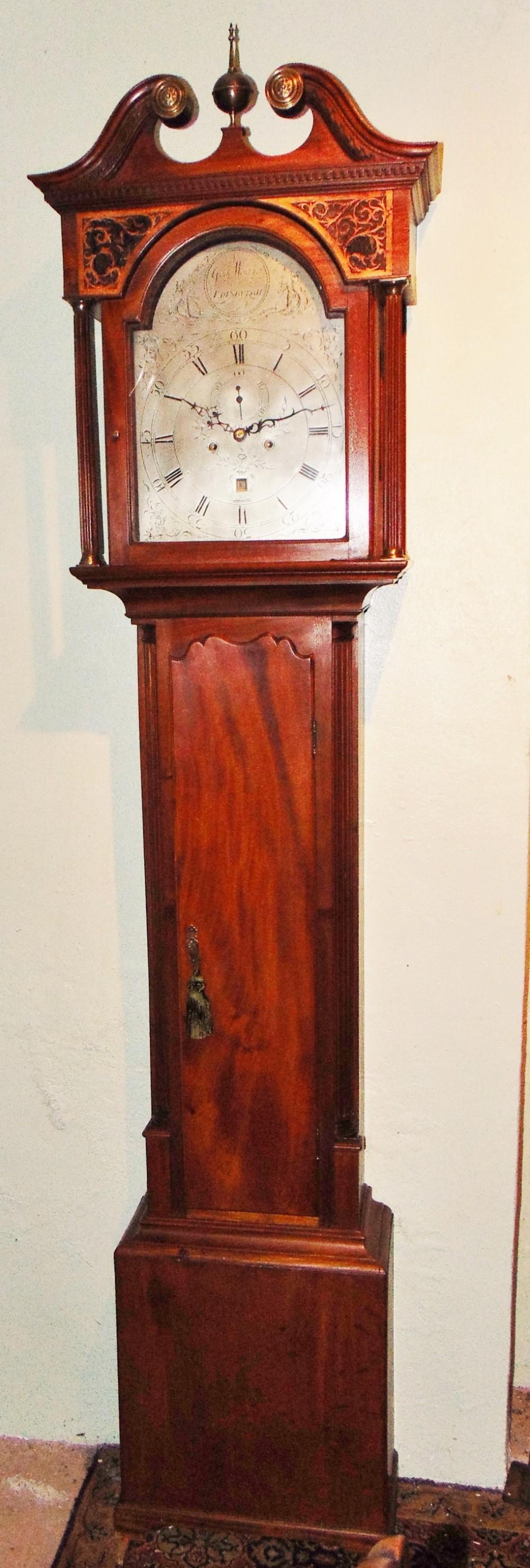 scottish georgian mahogany longcase clock circa 1770