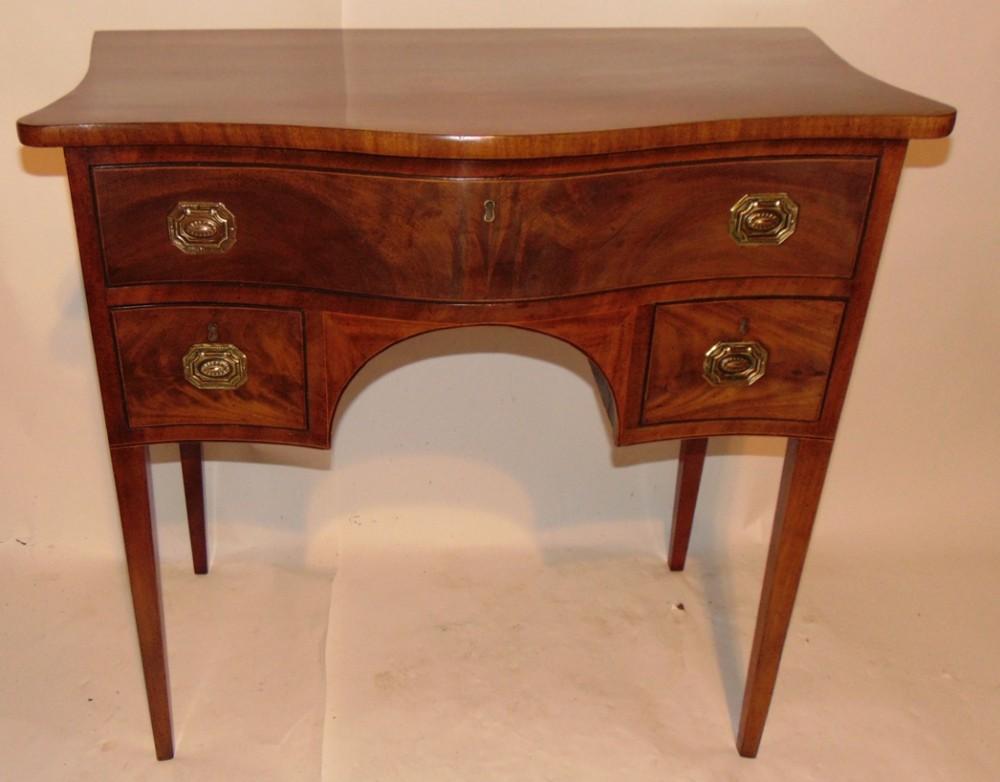 scottish georgian mahogany serpentine dressing table circa 1785
