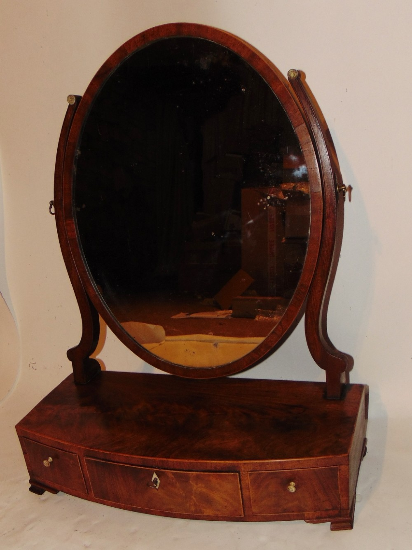 georgian mahogany toilet mirror circa 1785