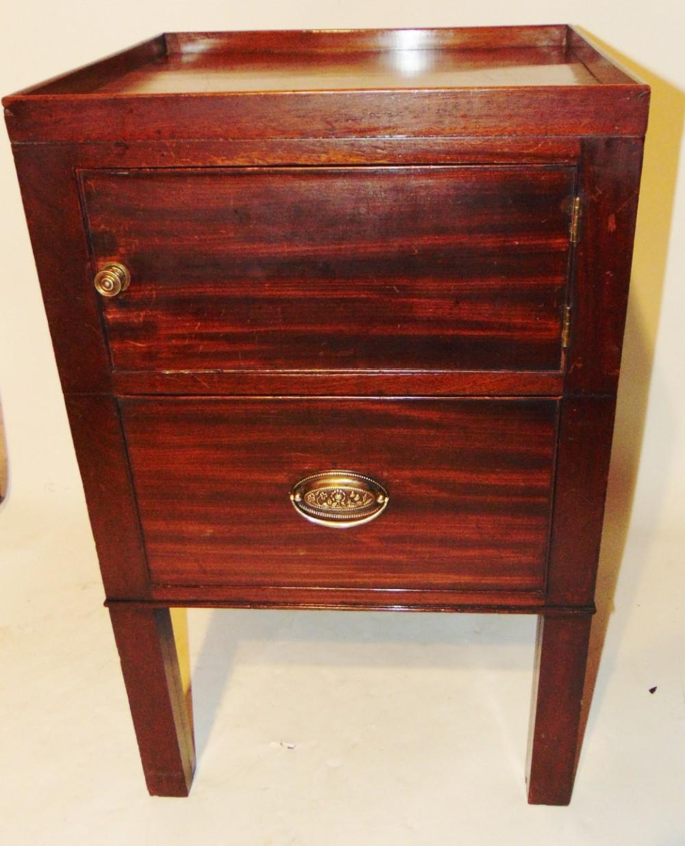georgian mahogany tray top commode circa 1800