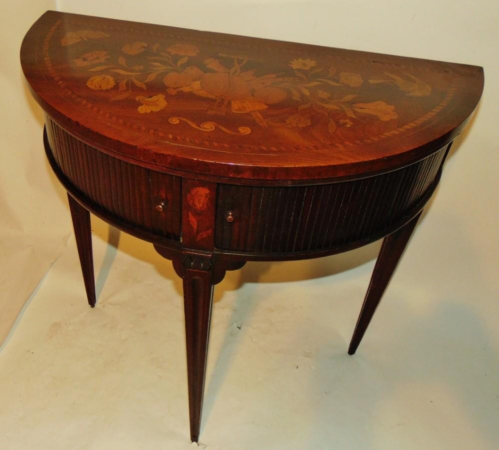 dutch mahogany marquetry side table circa 1800