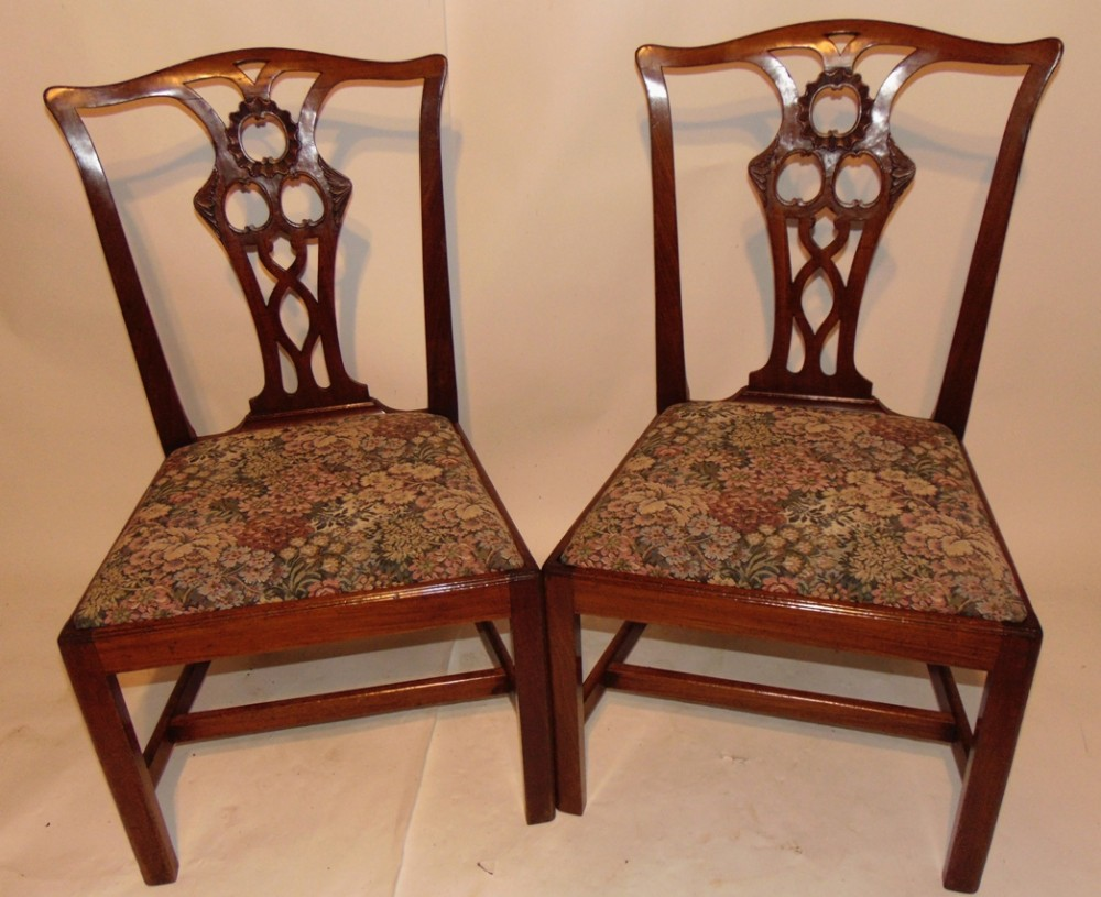 pair george iii mahogany chairs circa 1765