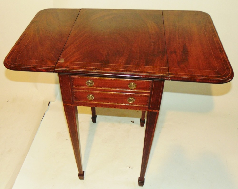 georgian mahogany pembroke work table circa 1785