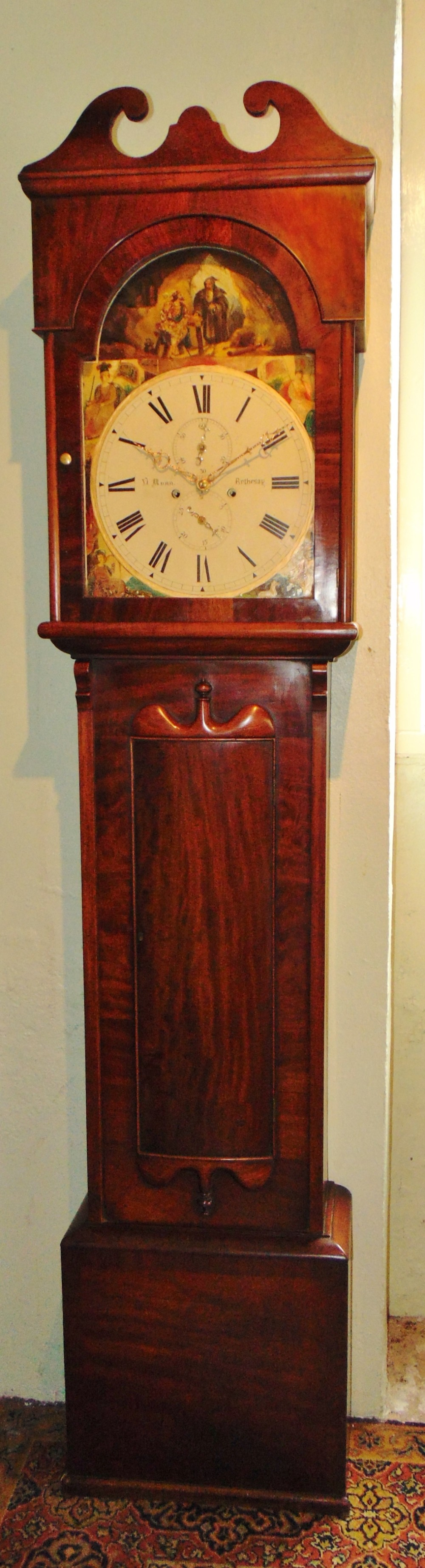 scottish mahogany longcase clock circa 1845