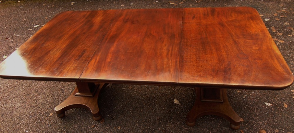 late georgian two pillar dining table circa 1830