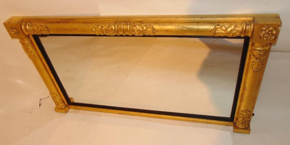 regency gilt overmantle mirror circa 1820