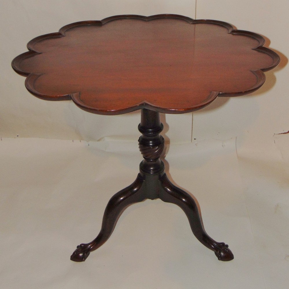 georgian mahogany shaped dish top tripod table circa 1770