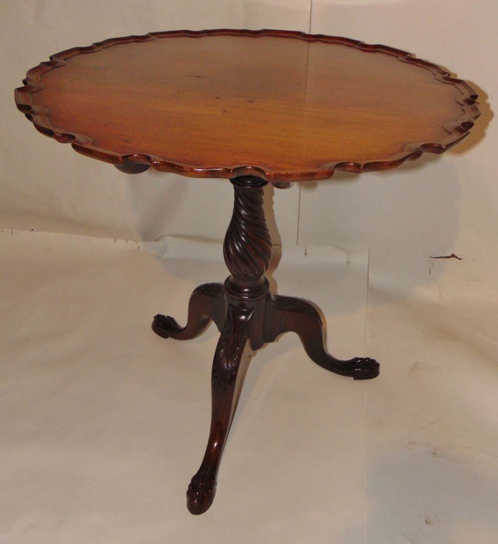georgian mahogany piecrust top tripod table circa 1770